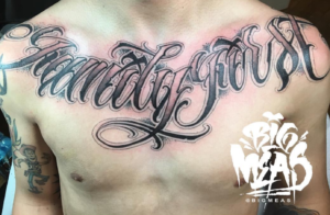 Lettering- Family First