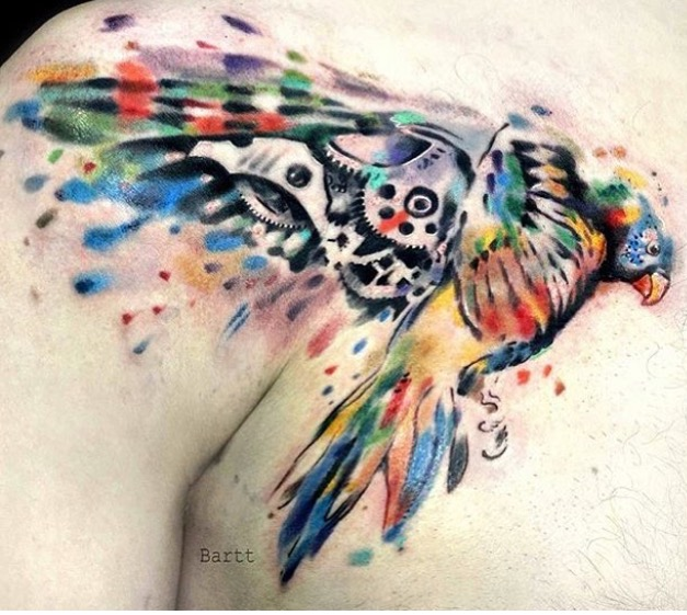 Abstract ,Steampunk , Parrot