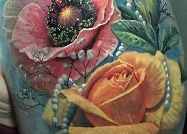 Flowers, Rose with Pearls