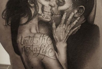 Man and Woman Day of the Dead, Romantic, Kissing